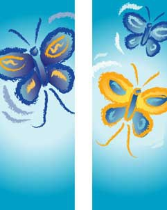 "Butterflies Double Design Light Pole Banner 30"" x 60"""