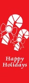 "Candy Canes Light Pole Banner 30"" x 84"""