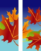 "Fall Leaves Light Pole Banner 30"" x 60"""