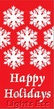 "Happy Holidays Snowflakes Light Pole Banner 30"" x 84"""