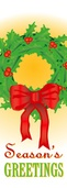 "Holly Wreath and Bow Light Pole Banner 30"" x 84"""