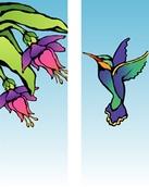 """Hummingbird Light Pole Banner 30"""" x 60"""""""