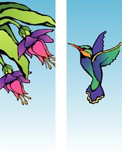 """Hummingbird Light Pole Banner 30"""" x 84"""""""