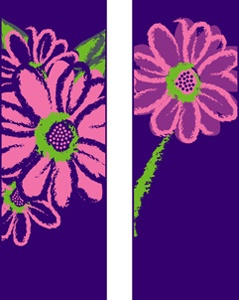 "Pink Daisy Light Pole Banner 30"" x 94"""