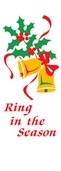 "Ring in the Season Light Pole Banner 30"" x 94"""