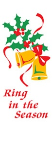 "Ring in the Season Light Pole Banner 30"" x 84"""