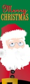 "Santa Claus Light Pole Banner 30"" x 84"""