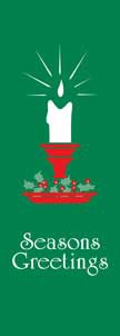 "Seasons Greetings Light Pole Banner 30"" x 84"""