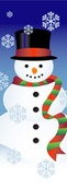 "Snowman and Snowflakes Light Pole Banner 17"" x 50"""