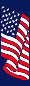 "Stars and Stripes Light Pole Banner 30"" x 84"""