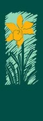 "Summer Daffodil Light Pole Banner 30"" x 84"""
