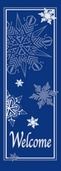 "Welcome with Snowflakes Light Pole Banner 30"" x 94"""