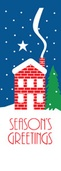 "Winter House Light Pole Banner 30"" x 60"""