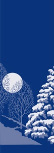 "Winter Scene Light Pole Banner 30"" x 60"""