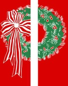 "Double Wreath Light Pole Banner 30"" x 94"""