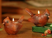 Cardinal Candle Holders - Set of 2