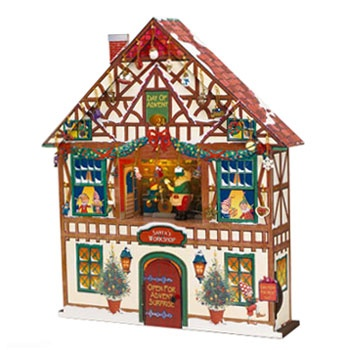 Musical / Illuminated Holiday Advent House