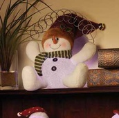 Lighted Snowman Card Holder