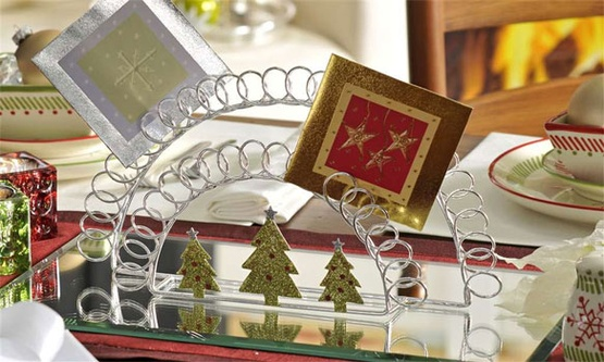 Metal Cardholder with Tree Design