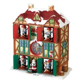 "12""H Musical Animated Santa's Workshop with 25 Christmas Songs and Working Clock"