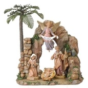 "12""H Fontanini Nativity Set with Grotto"