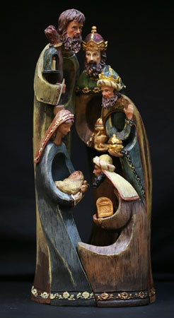 """15.5"""" Resin Nativity Set with Wise Men"""