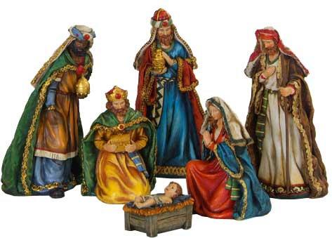 "10"" Polyresin Nativity Set, 6 Piece Set"