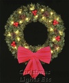 5' Royal Pine Wreath, Building Front, Clear Lamps