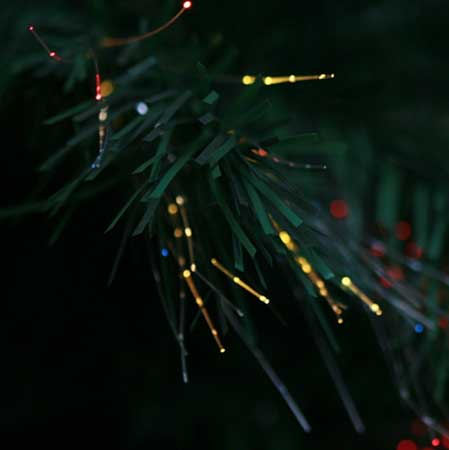 4' Green Fiber Optic Tree