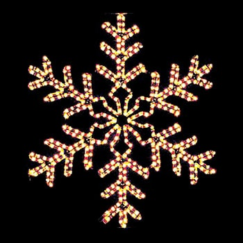 4' Giant Clear Snowflake