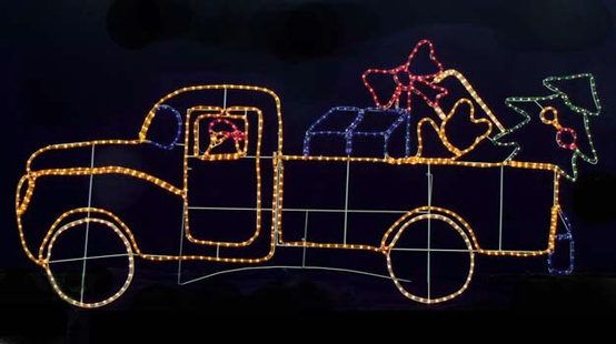 Santa's Toy Truck With Presents
