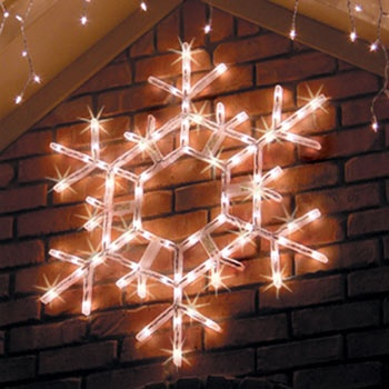 "20"" Super Bright Pre-lit Holiday Folding Twinkle Snowflake Decoration, 70 Clear Lamps"