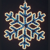 2' Snowflake Blue And Clear With Controller