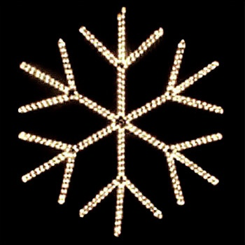 Traditional Six Spoke Clear Snowflake