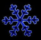 2' Blue and White LED Snowflake with Controller