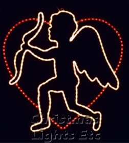 Cupid And His Bow In Heart Motif