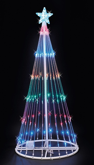 4' Multi LED Light Show Tree