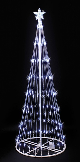4' White LED Light Show Tree