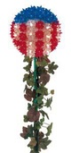 "7.5""  Mini Patriotic Starlight Stake, 100 Red/White/Blue Lamps"