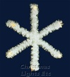 2.5' 2-D Snowflake Tree Topper, Clear Lamps