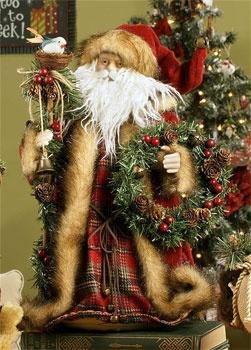 """16"""" Felt Santa Tree Topper"""