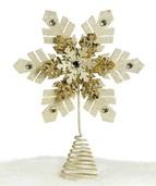 "12"" Glittered Snowflake Tree Topper"