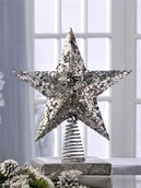 "12"" Silver Star Tree Topper"