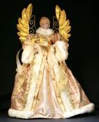 "16"" Gold and Ivory Angel Tree Topper"