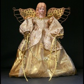 "12"" Gold Angel Tree Topper"