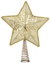 "14"" Gold Star Tree Topper, 10 LED Lights"