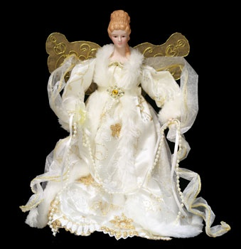 "12"" Ivory Angel Tree Topper"