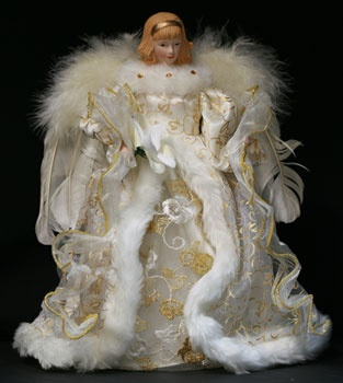 "12"" White Angel Tree Topper"