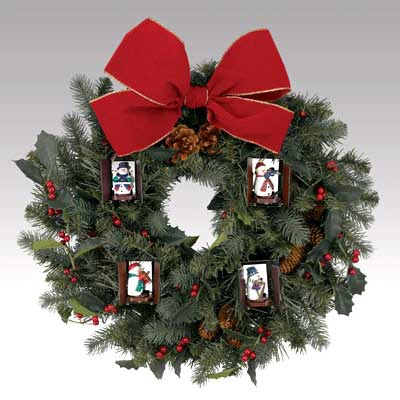 Musical Animated Unlit Wreath