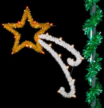 5' Unlit Sparkling Shooting Star Pole Mount